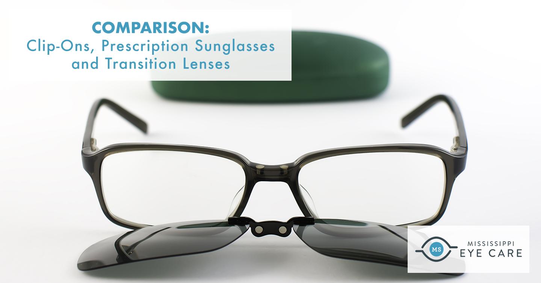 Read more about the article Comparison: Clip-Ons, Prescription Sunglasses and Transition Lenses